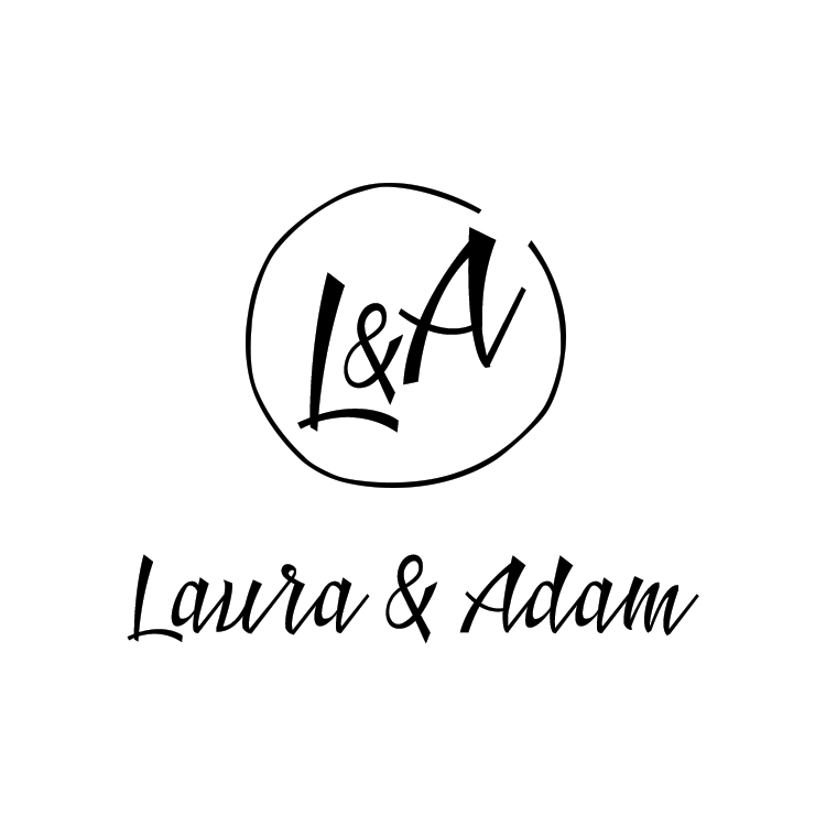 Laura & Adam Logo Design