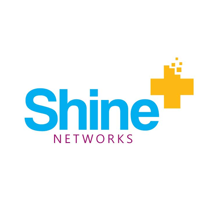 Shine+ Networks Logo Design